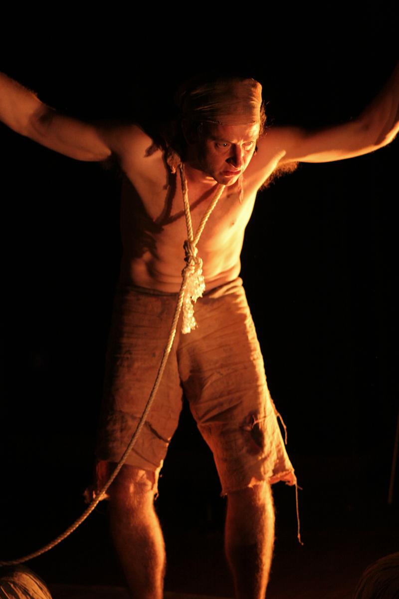John Norton in The Long Way Home by Charles Way, Hijinx Theatre. Photo: Simon Gough