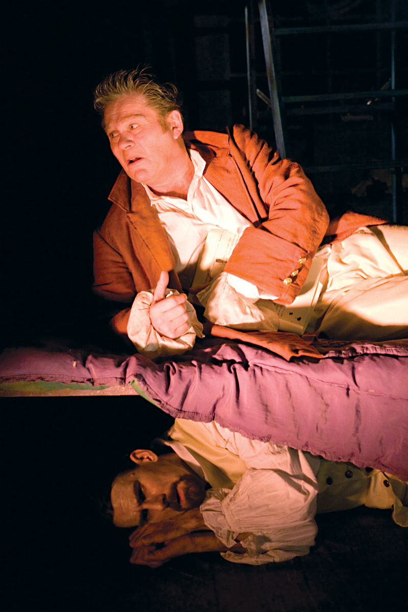 Brendan Charleston and Michael Wagg in Gulliver, Hijinx Theatre. Photo: Simon Gough