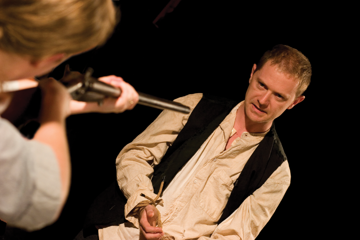 Lizzie Rogan and Stephen Hickman in The Other Woman by Paul Swift. Photo: Simon Gough