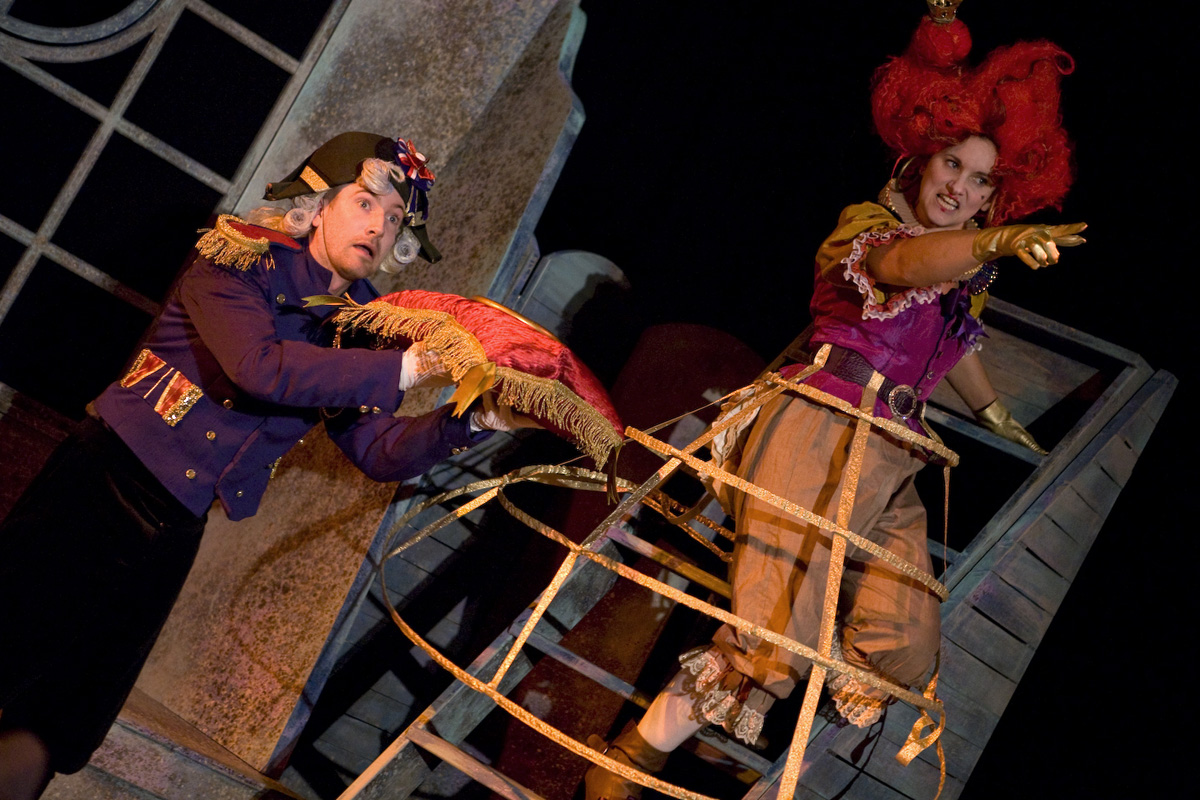 Zoe Davies and James Ashton in Gulliver by Kit Lambert, Hijinx Theatre. Photo: Simon Gough