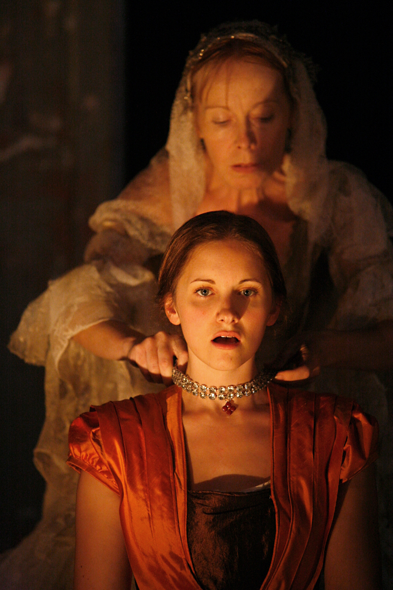 Zoe Davies and Caroline Bunce in Estella's Fire by Louise Osborn Photo: Simon Gough. Director:  Ros Hutt, Hijinx Theatre